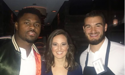 Mitchell Trubisky and Khalil Mack Played Waiters  For Charity
