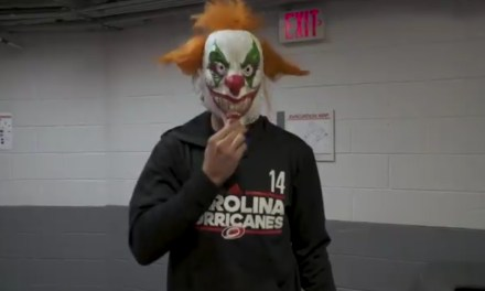 Hurricanes Captain Justin Williams Attempted to Scare His Teammates for a Halloween Prank