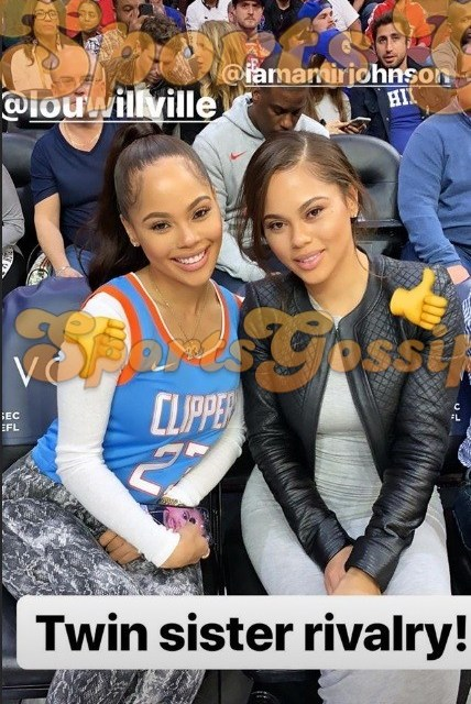 NBA Girlfriends Enjoy Twin Rivalry at Clippers Sixers Game