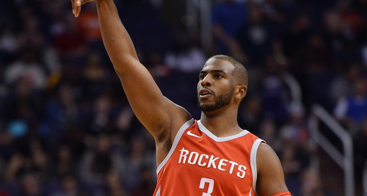Chris Paul Toys with Jarrett Allen Before Launching and Missing a Three Pointer