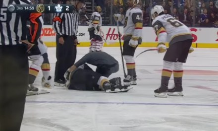 Golden Knights Center Erik Haula Stretchered Off the Ice after Getting Checked into the Boards