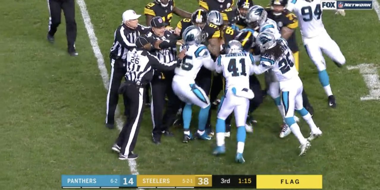 Panthers Safety Eric Reid Was Ejected for a Hit to the Head of a Sliding Ben Roethlisberger