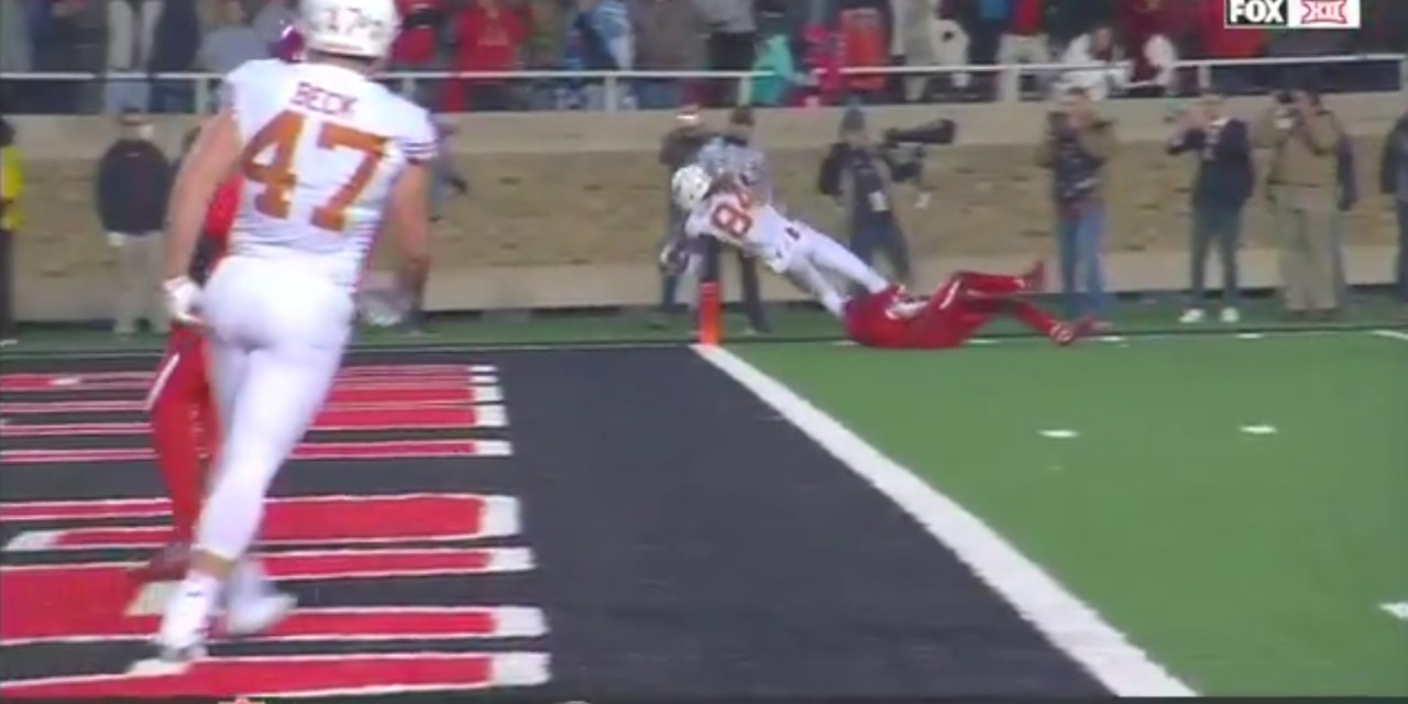 Texas Beat Texas Tech on a Late Touchdown from Lil'Jordan Humphrey