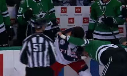 Jamie Benn and Josh Anderson Threw Hands on Monday night