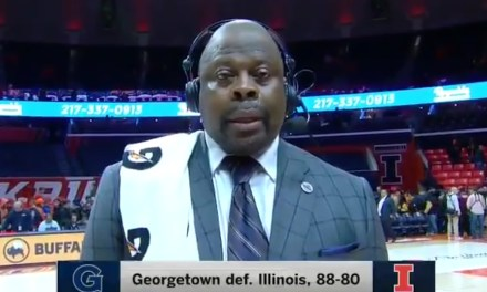 Georgetown Head Coach Patrick Ewing Talked About his Player's Nuts during Postgame Interview