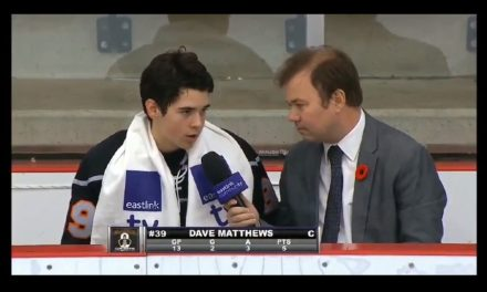 Reporter Interviews Minor League Hockey Player Dave Matthews Using Dave Matthews Band References