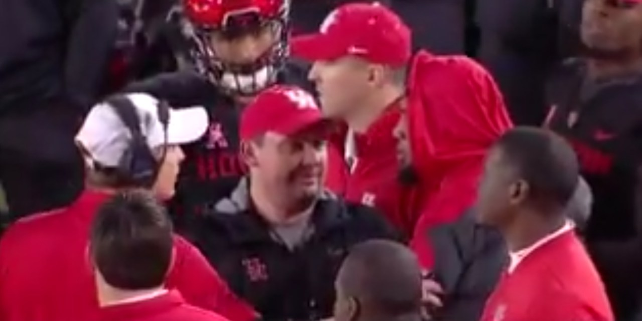 Houston's Ed Oliver and Head Coach Major Applewhite Got Into an Argument Over a Jacket