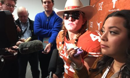 Texas' Breckyn Hager Reprimanded for Saying OU 'Sucks'
