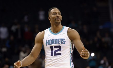 Dwight Howard Celebrates Making Two from the Charity Stripe