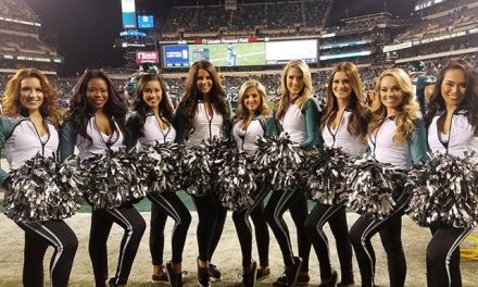 Eagles Cheerleaders Dancing Through a Fight