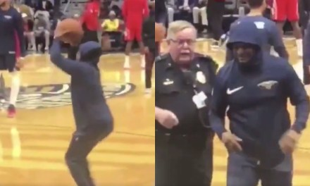 Detroit Comedian Sneaks Onto Court During Warm-ups