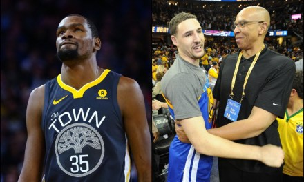 Klay Thompson's Dad Loses it Over Kevin Durant's Metric Rating