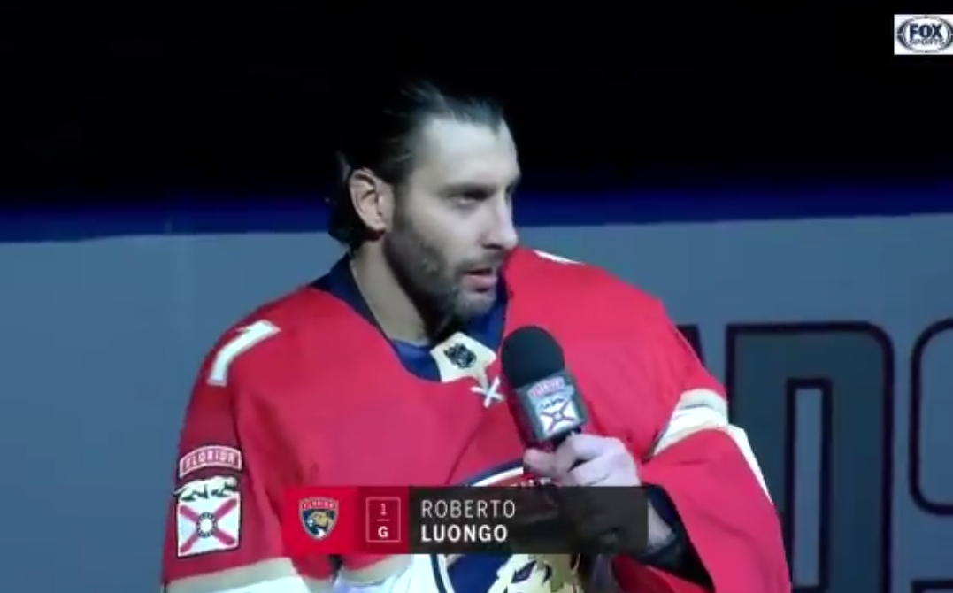 An Emotional Roberto Luongo Addressed Home Crowd In Florida Sports
