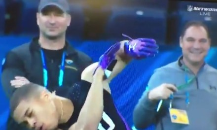 Watch A Cornerback Get Drilled In The Head At The NFL Combine and The Sports Gossip Links