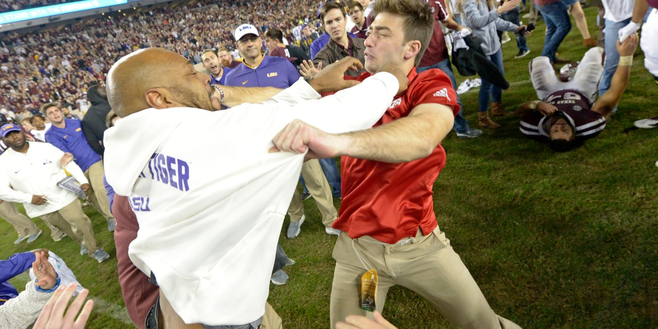 LSU Director of Player Development Kevin Faulk Involved in a Postgame Fight