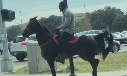 LSU Linebacker Spotted Riding a Horse Around Campus