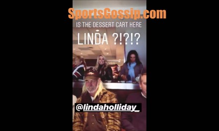 Linda Holliday Waves to Belichick at the End of Each Game