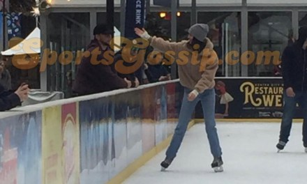 Ben Simmons and Kendall Jenner Loved up on the Skating Rink in Philadelphia