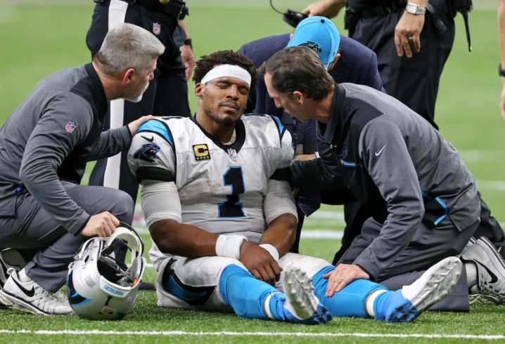 Cam Newton Dealing with Shoulder Soreness that Could Be an Issue the Rest of the Season