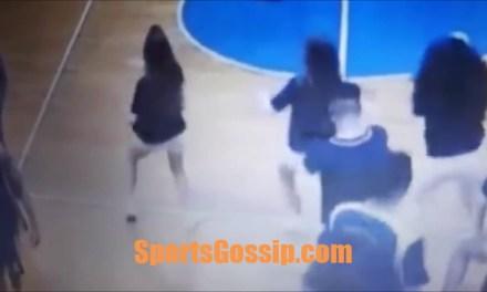 Russian Basketball Player Caught Pinching Cheerleader's Ass