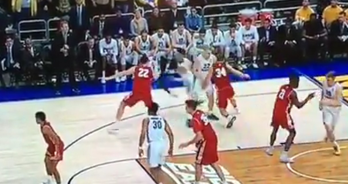 Wisconsin's Brad Davison Received a Flagrant Foul for Cupchecking a Marquette Player