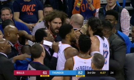 Things Get Heated Between the Bulls and Thunder after Kris Dunn Shoves Russell Westbrook
