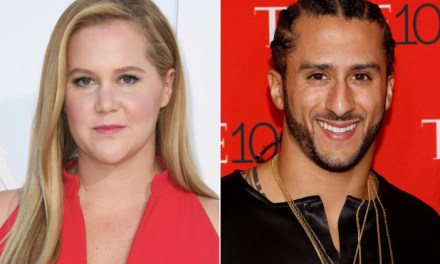 Amy Schumer Fires Back at Those Criticizing Her For Showing Support For Colin Kaepernick