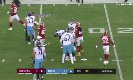 Marcus Mariota Suffered a Stinger after Being Slammed to the Ground