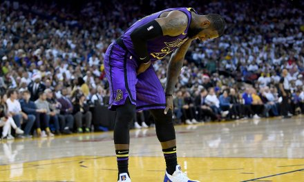 LeBron Left Christmas Day Win Over the Warriors Early with a Groin Injury