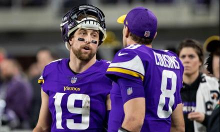 Things Got Heated Between Kirk Cousins and Adam Thielen On the Sidelines
