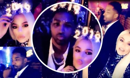 Khloe Kardashian Rings in the New Year With a Kiss from Tristan Thompson