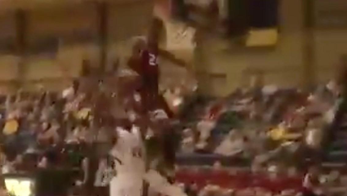 College Hooper Blaise Meredith Smacks Head on Backboard During Epic Block
