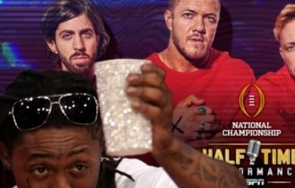 Lil Wayne Joins ESPN's College Football Playoff Halftime Performance Featuring Imagine Dragons