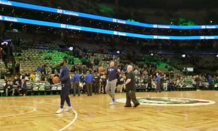Mavs Rookie Luka Doncic Casually Swished a Step Back Half-Court Shot in Warmups