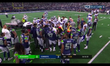 Cowboys WR Allen Hurns Carted Off the Field after Suffering a Gruesome Ankle Injury