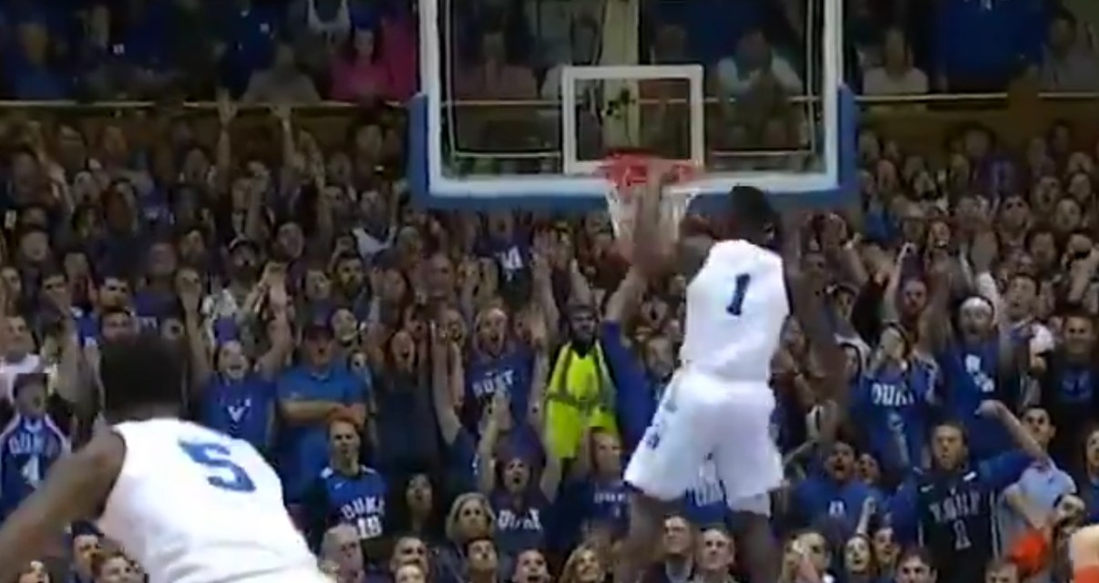 Zion Williamson with the Steal and the 360 Dunk