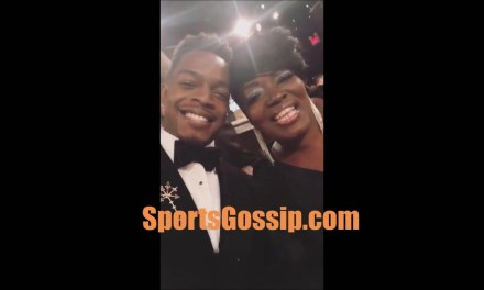 Wanda Durant at the Golden Globes