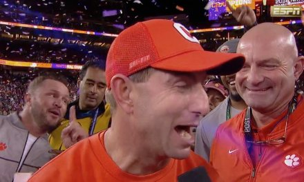 "Dabo Swinney Celebrated Winning the National Championship by Dancing to ""Sweet Home Alabama"""