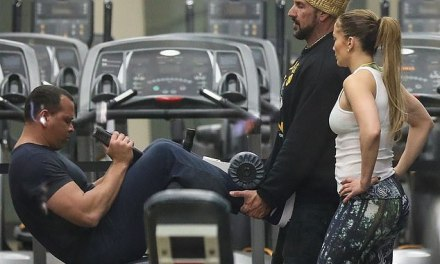 J-Lo And A-Rod Hit the Gym in Santa Monica