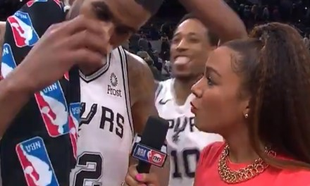 LaMarcus Aldridge Gets Gatorade Cup Shower After Dropping 56