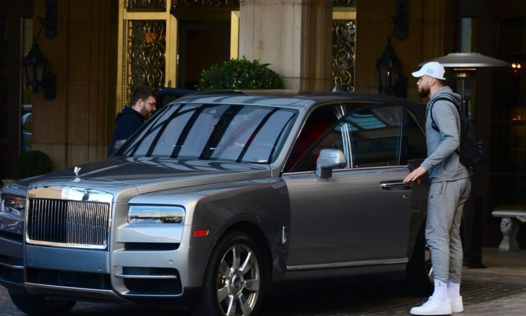 Blake Griffin Showing Off his Flashy Silver Rolls Royce in Beverly Hills