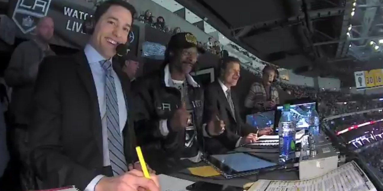 Snoop Dogg Ended Up in the Booth at a Los Angeles Kings Game and it was Amazing