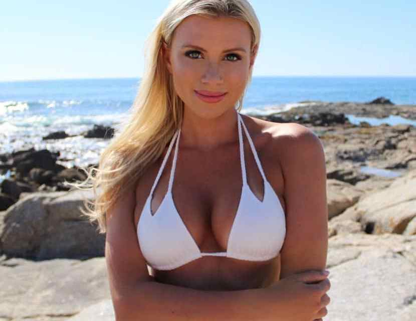 Golfer Katie Kearney Makes Selling Bathing Suits Look Easy