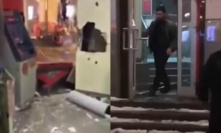 MMA Fighter Dzhabrail Duzaev Destroys Bank in Moscow