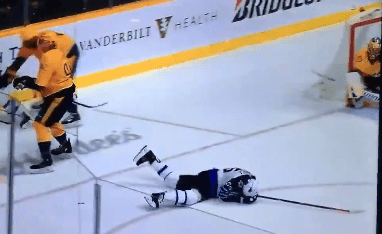 Nashville's Ryan Johansen Pulls Off One of the Dirtiest Hockey Moves You'll Ever See