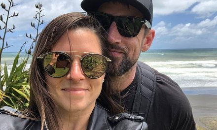 Aaron Rodgers Jumps for Joy with Danica Patrick on Vacation