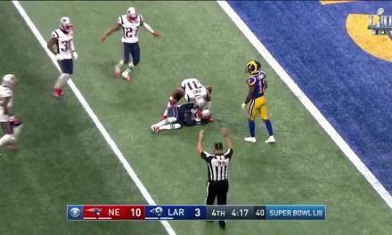 Jared Goff Throws Costly Interception Late in the 4th Quarter