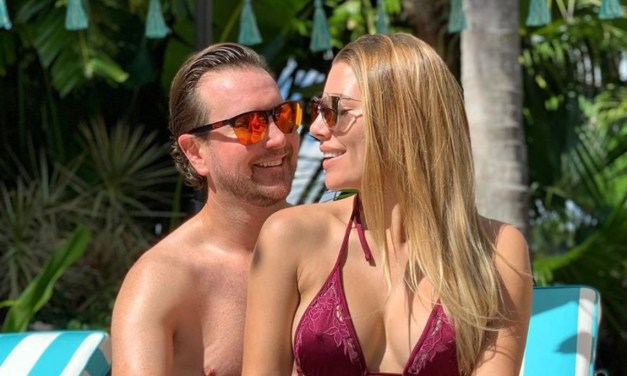 NASCAR Driver Kurt Busch and His Wife Ashley Boycotted the Super Bowl Poolside