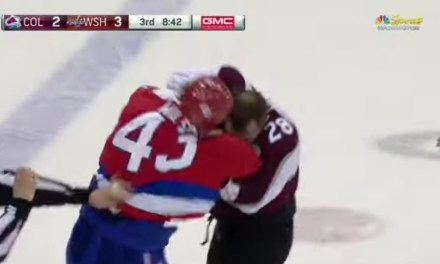 Tom Wilson Punished Ian Cole for a Dirty Hit to the head of Evgeny Kuznetsov