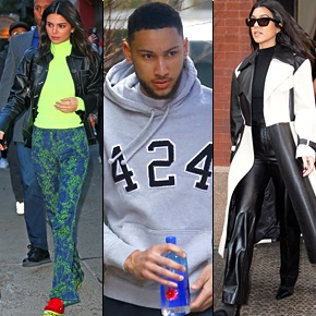 Ben Simmons Hangs With Kendall Jenner and Kourtney Kardashian in NYC